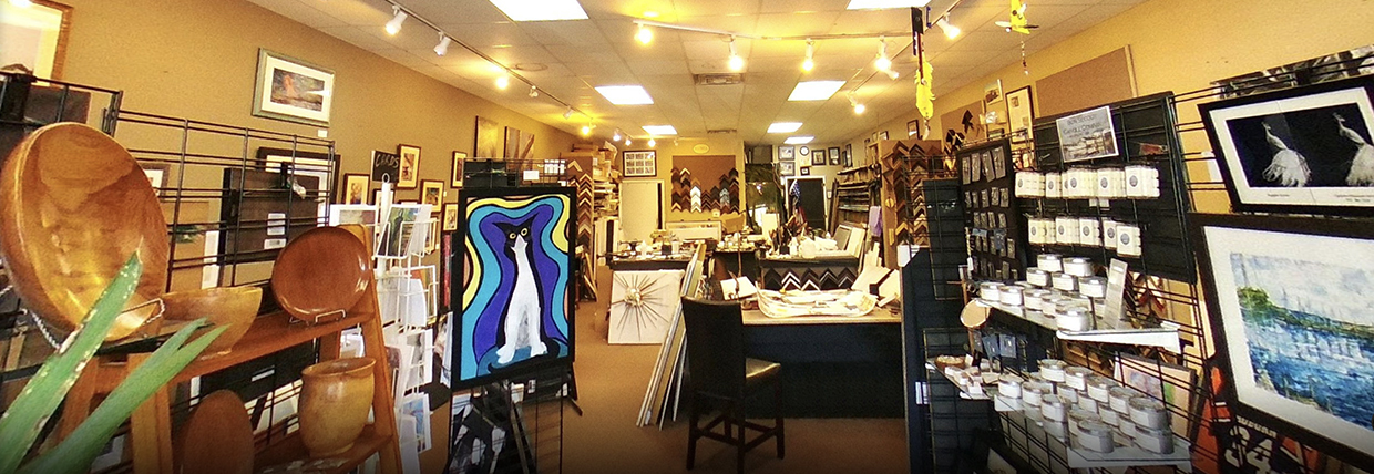 Gallery interior toward frame shop - slider